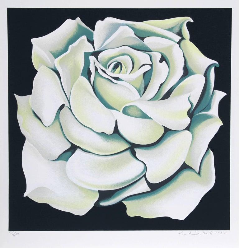 Artist: Lowell Blair Nesbitt, American (1933 - 1993) Title: White Rose Year: 1981 Medium: Silkscreen, signed and numbered in pencil Edition: 200 Image Size: 24 x 24 inches Size: 27 in. x 26 in. (68.58 cm x 66.04 cm)