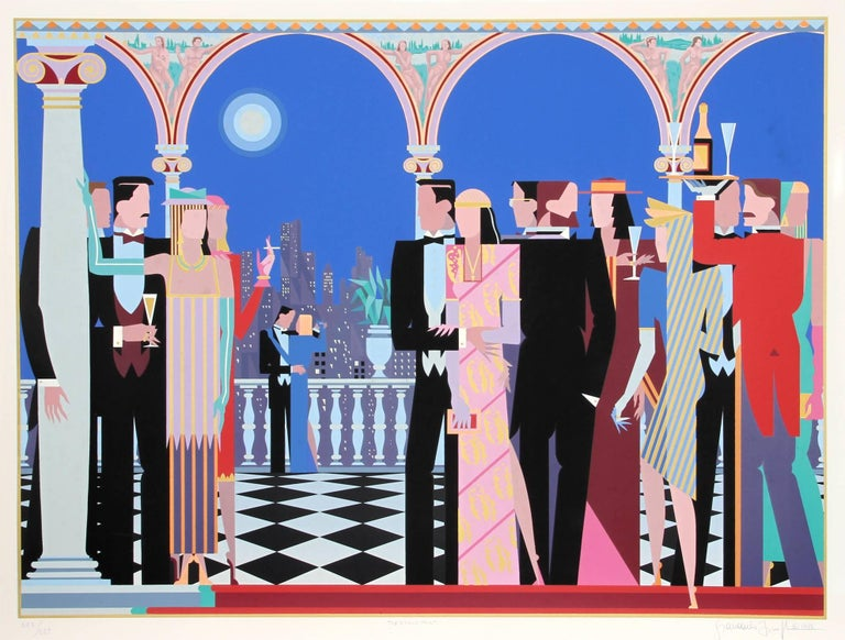 """The Grand Party,"" Serigraph on Arches Paper, 1986"