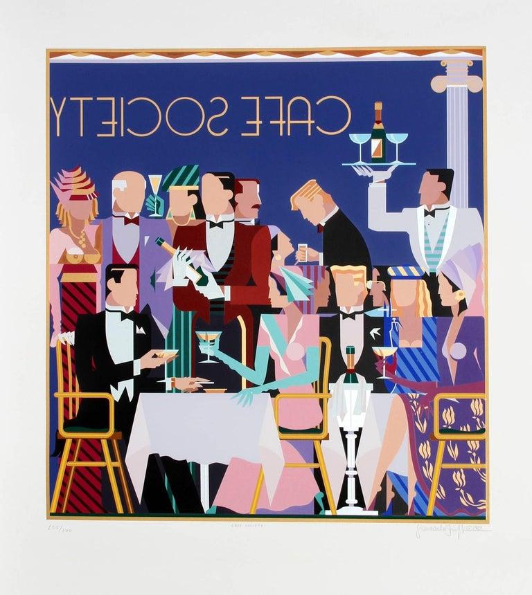 """Cafe Society,"" Serigraph. 1987"