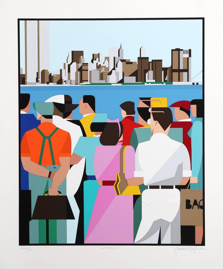 """Sightseeing,"" Serigraph, 1982"