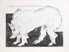 """Warthog,"" Drypoint Etching, circa 1970"