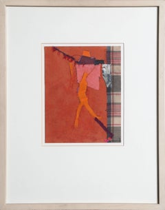 """""""Reaching No. 2,"""" Collage with Fabric and Paper, 1985"""
