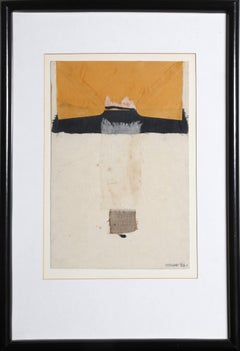 """Reaching,"" Mixed Media Collage with Fabric, 1983"