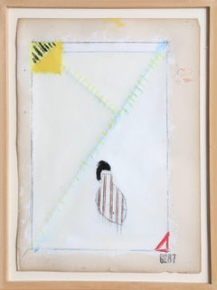 """O.P.,"" Pencil, Enamel, and Acrylic on Paper, 1987"