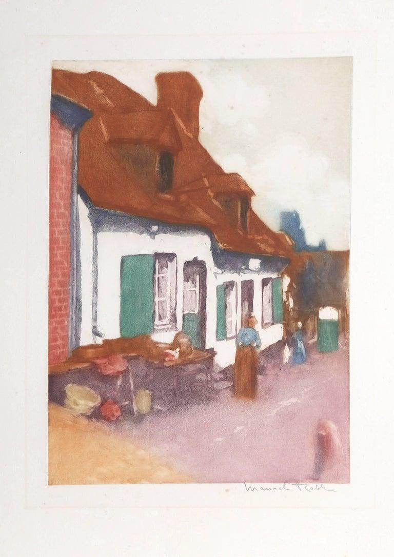 """""""La Maison aux Volets Verts,"""" Etching with Aquatint, circa 1955"""