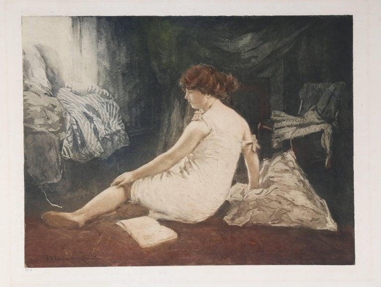 """Le Déshabille,"" Etching with Aquatint, circa 1907"