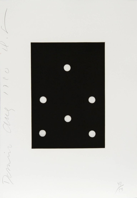 17 from the Dominoes Portfolio, Aquatint Etching, 1990