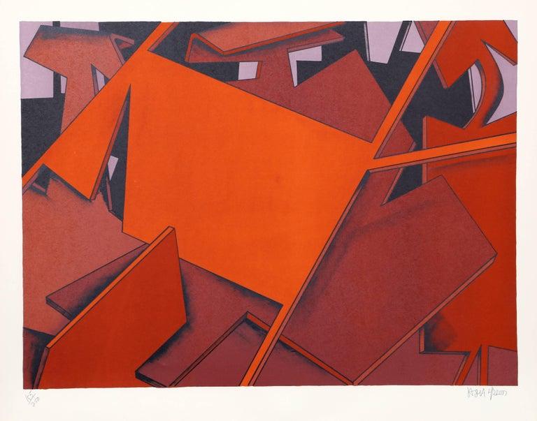 "Jasha Green, ""Untitled 29,"" Lithograph, circa 1976 - Print by Jasha Green"