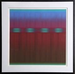"""""""Sky Light XXIII,"""" OP Art Serigraph, 1981"""
