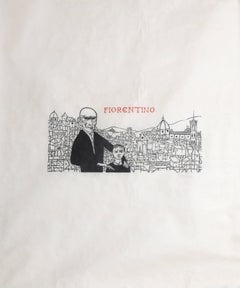 """Fiorentino,"" Woodcut Print on Rice Paper, circa 1950 by Baskin"