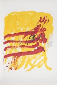 """No. 7 from """"Als Mestres de Catalunya,"""" Lithograph, 1974"""