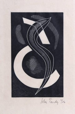 Modern Abstract Woodcut c1928
