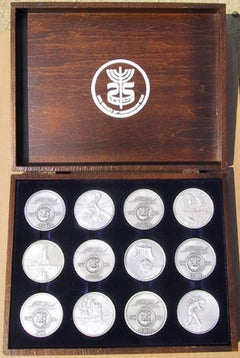 Homage to Israel set of 12 Silver Medallions