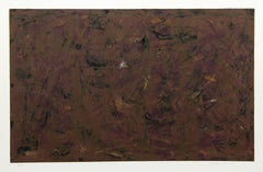 Brown Abstract Expressionist etching