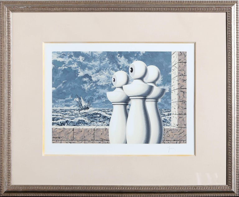 After ren magritte la travers e difficile print for for Rene magritte le faux miroir