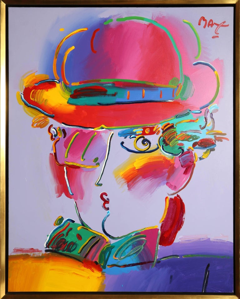 peter max zero in purple painting for sale at 1stdibs. Black Bedroom Furniture Sets. Home Design Ideas