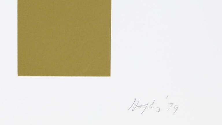 Guardian X, Geometric Abstract Silkscreen by Budd Hopkins For Sale 1