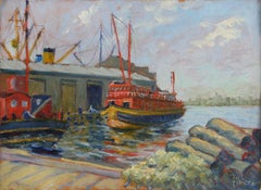 The Wildwood, New York Harbor painting circa 1940