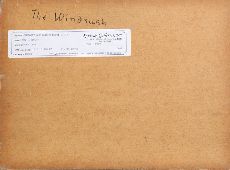 The Windrush - American Impressionist Painting by Margaretha E. Albers