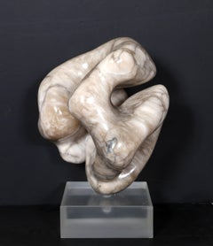 Unique abstract marble sculpture