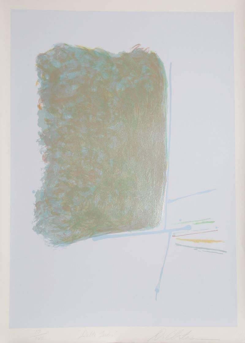 Delta Leader, Abstract Silkscreen by Dan Christensen