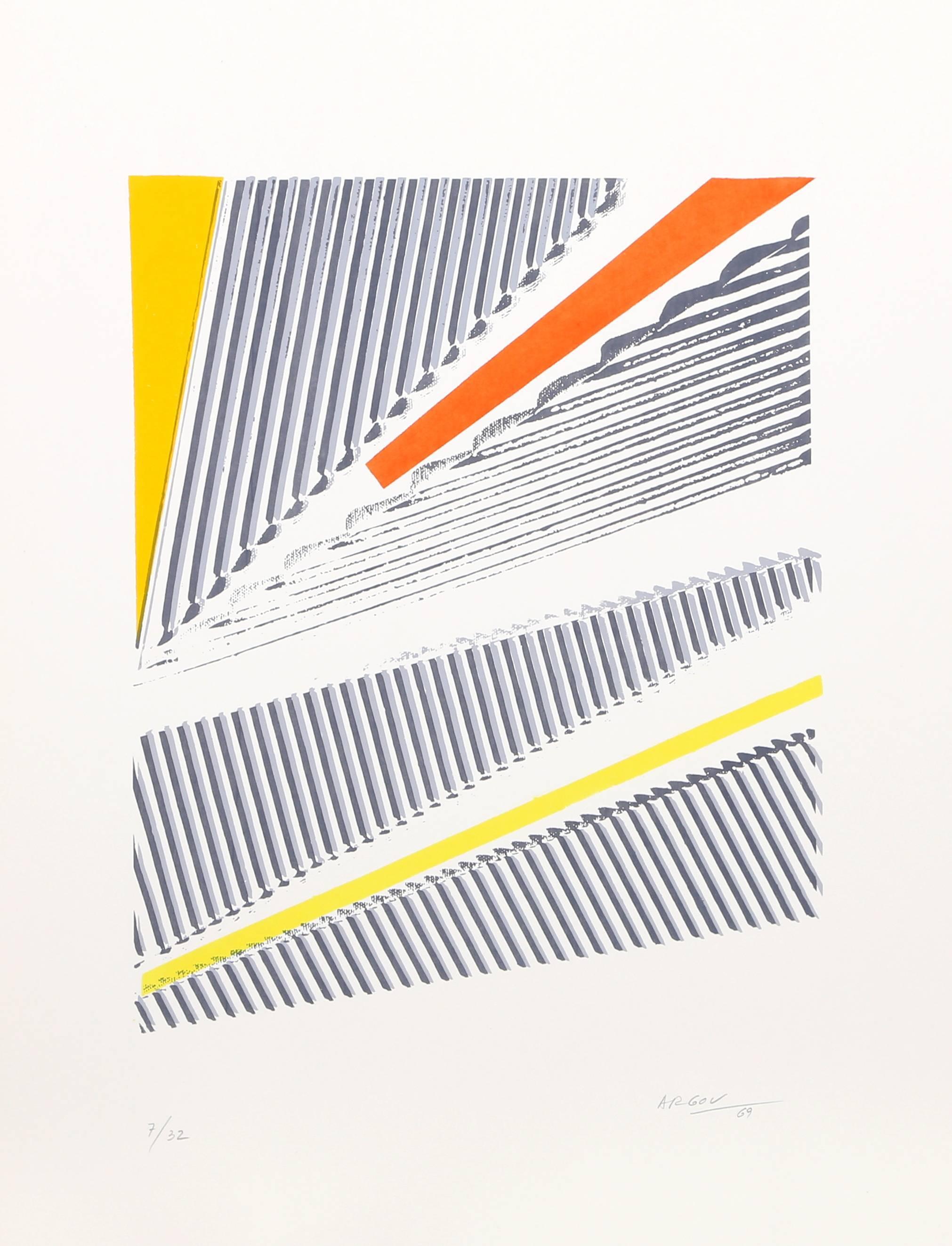 untitled 1 Minimalist Abstract Silkscreen 1969