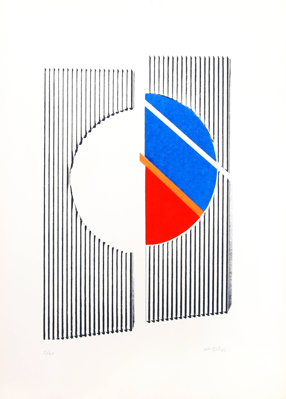 untitled 2 Minimalist Abstract Silkscreen 1969