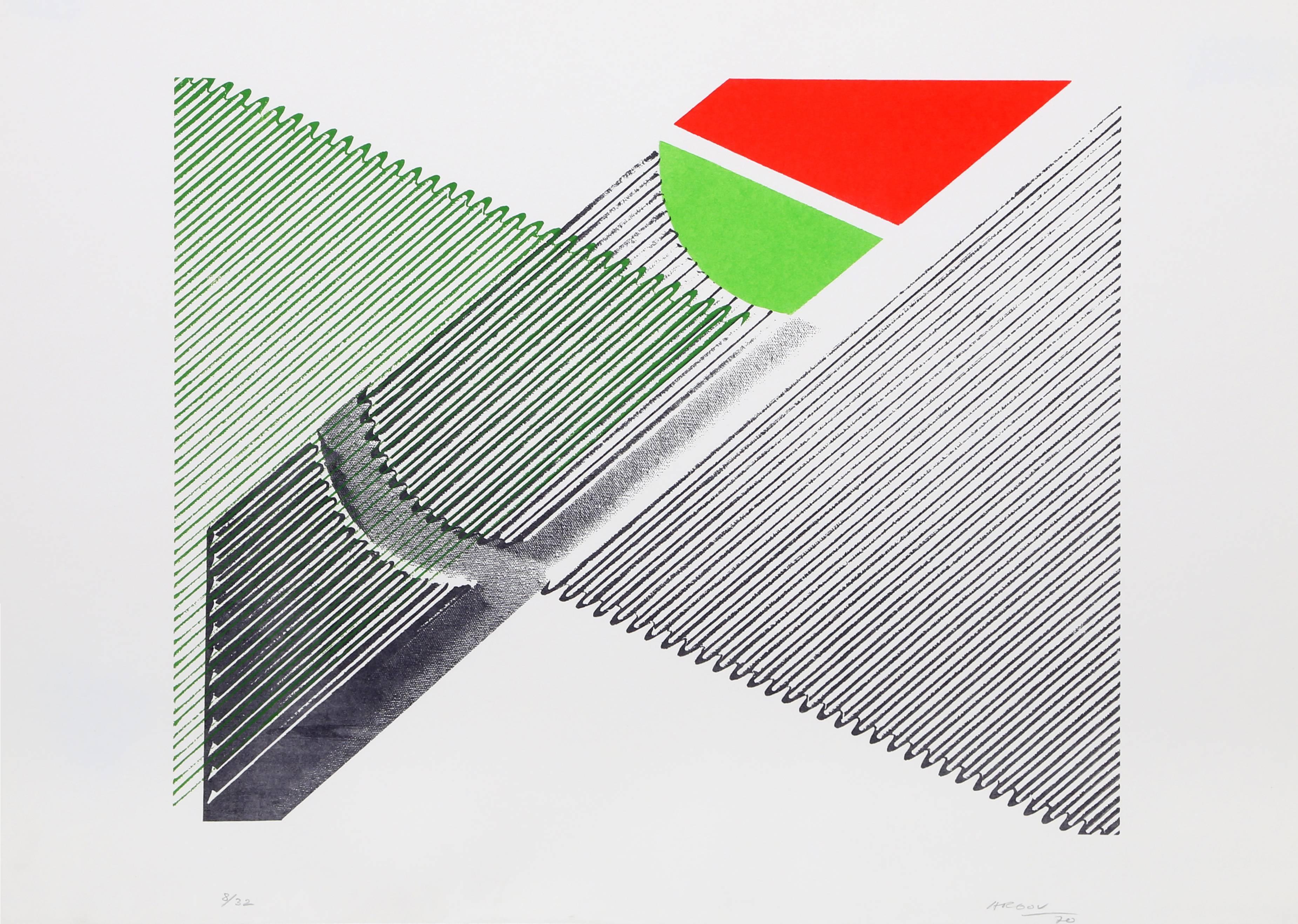 untitled 3 Minimalist Abstract Silkscreen 1969