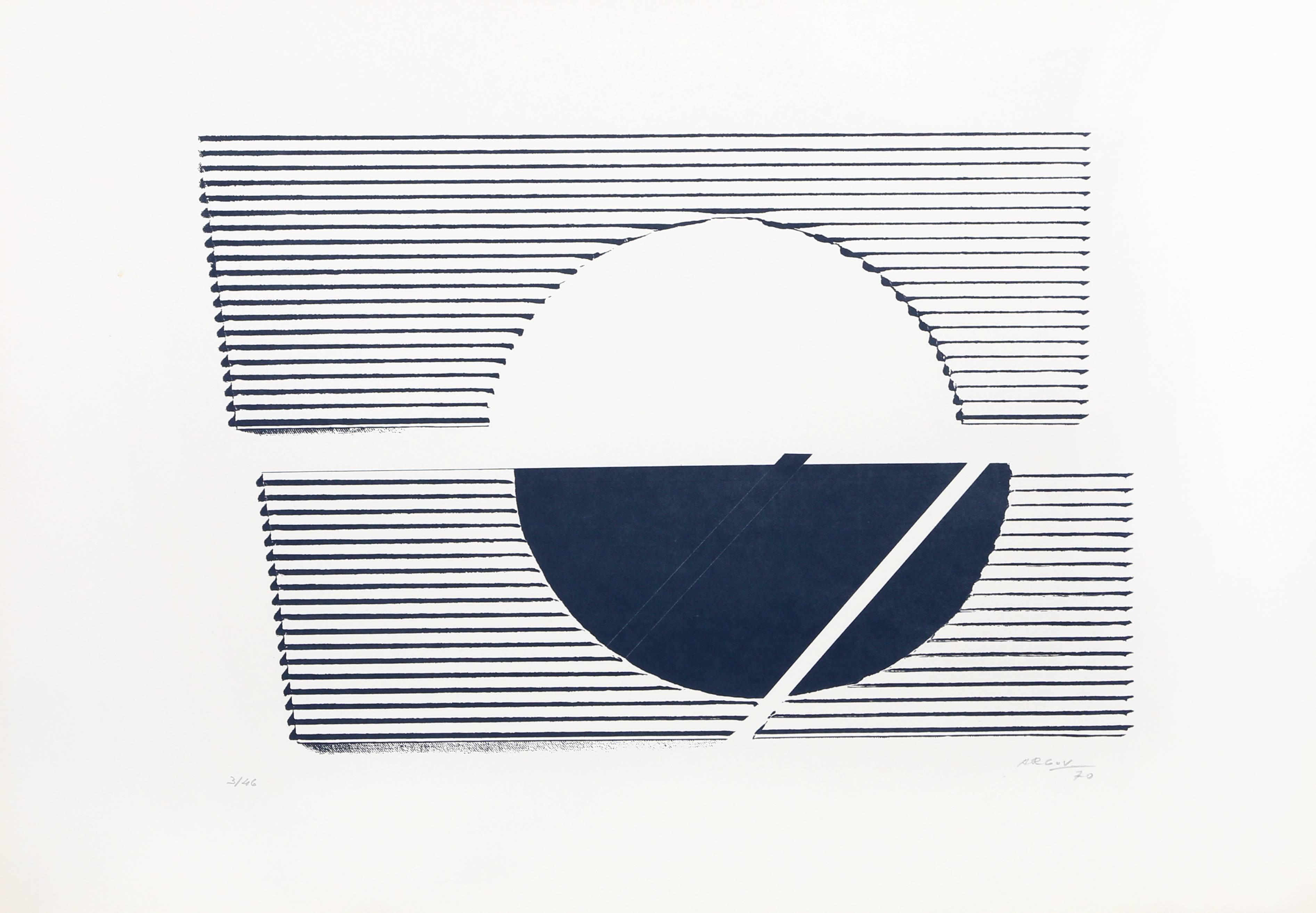 untitled 4 Minimalist Abstract Silkscreen 1969