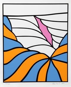 Big Sky, Pop Abstract Silkscreen by Nicholas Krushenick