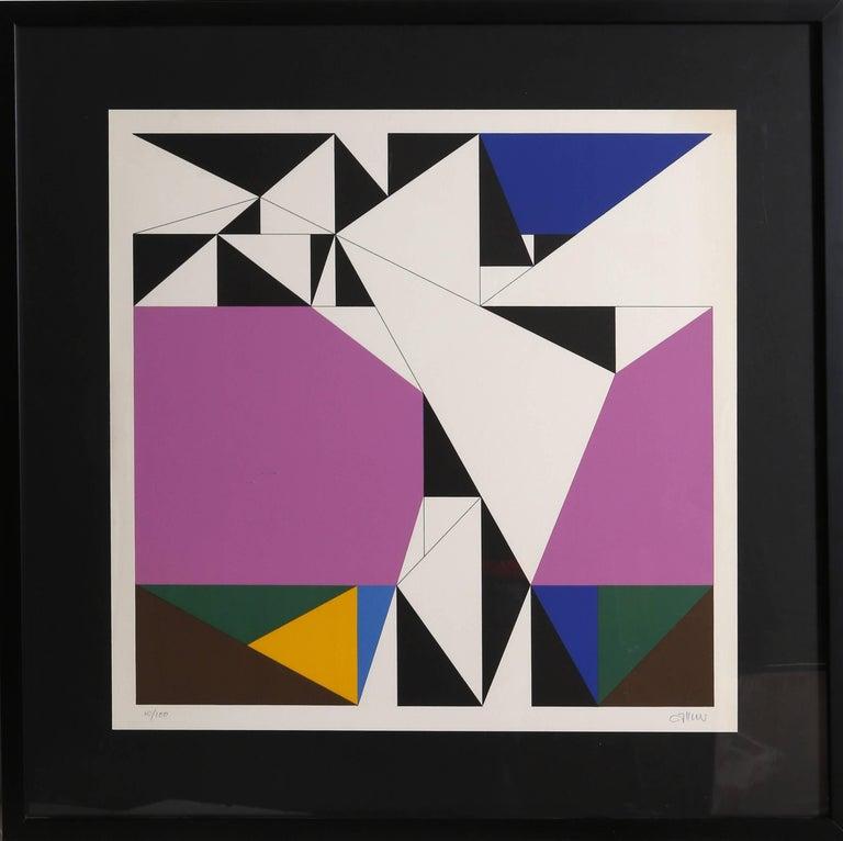 Walter Allner Abstract Print - Geometric Abstract Silkscreen