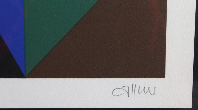 Geometric Abstract Silkscreen  - Abstract Geometric Print by Walter Allner