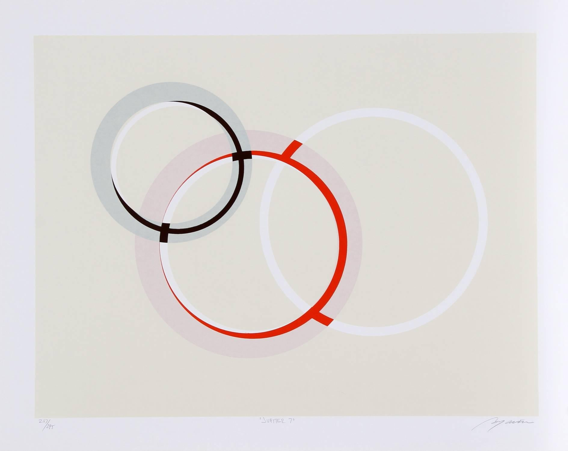 Jupiter 7, Geometric Abstract Serigraph by Bogarin