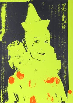 Neon Clown, Pop Art Silkscreen by Ford Beckman