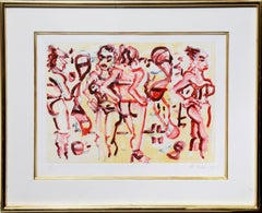 Women in Heels, Monotype Etching by Greg Kessler