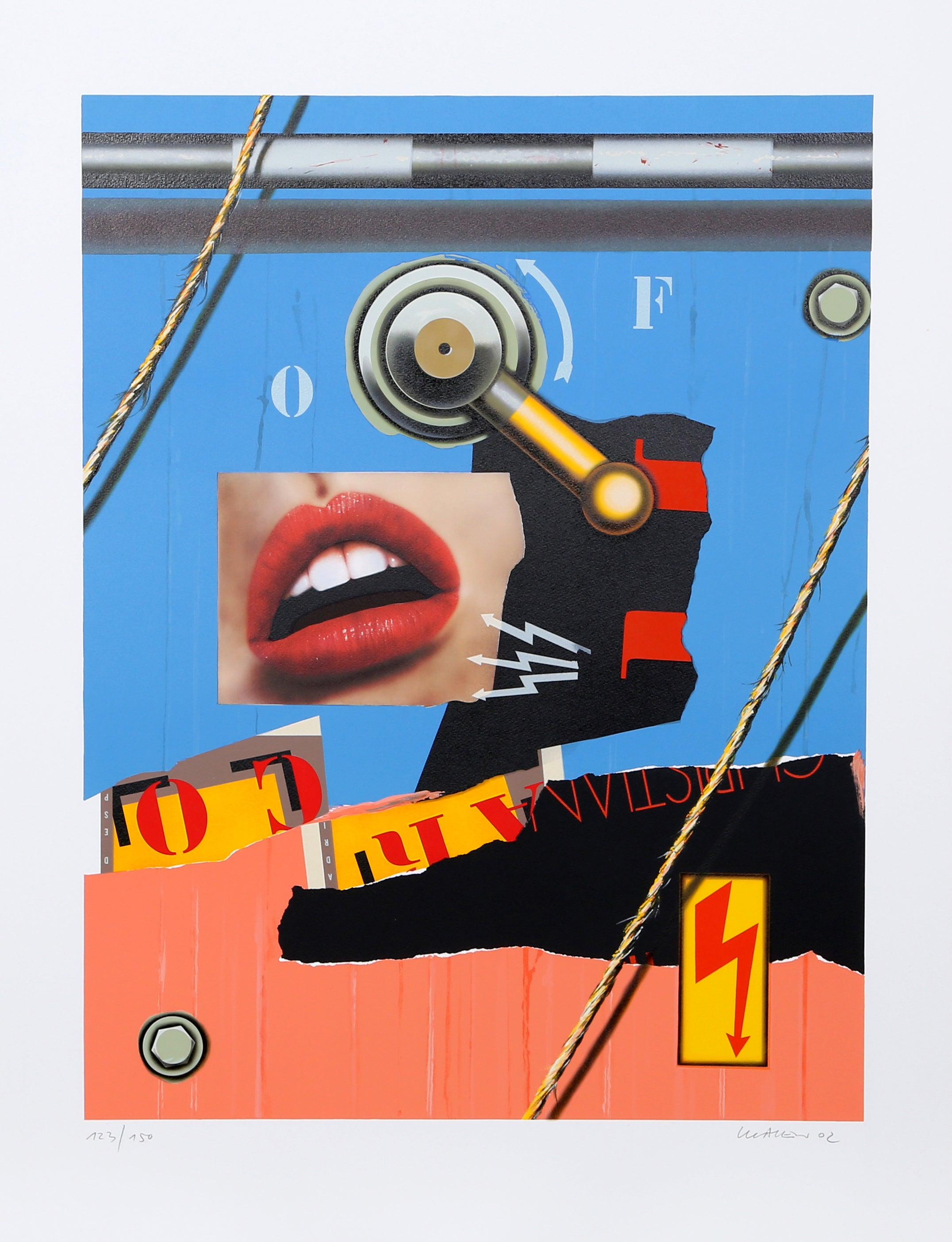 Bouche Chaine, Pop Art Lithograph by Peter Klasen