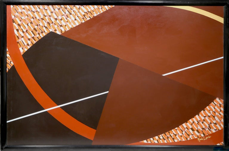 Artist: Mark Lewis Title: Shoot the Moon 4 Year: circa 1980 Medium: Acrylic on Canvas, signed l.r. Size: 48 x 72 in. (121.92 x 182.88 cm) Frame Size: 51.25 x 75.25 inches