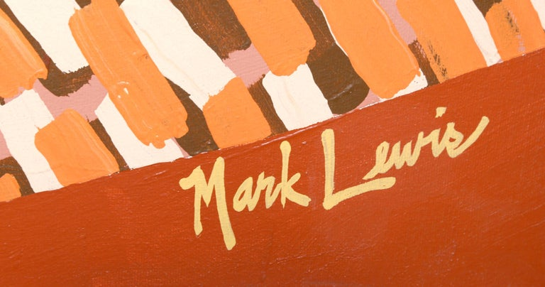 Shoot the Moon, Large Abstract Painting by Mark Lewis For Sale 1