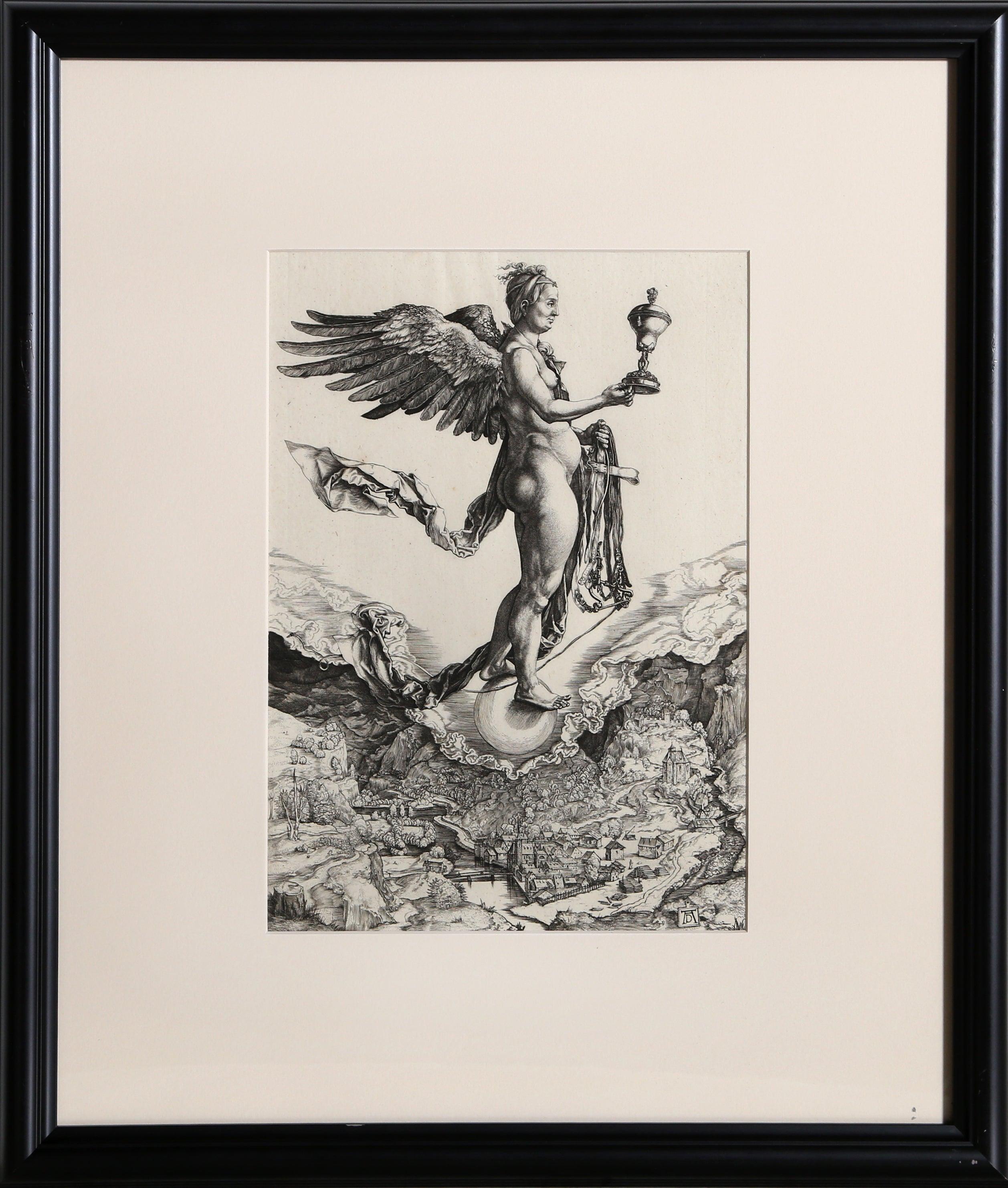 La Grande Fortune etching by Amand-Durand after Albrecht Durer