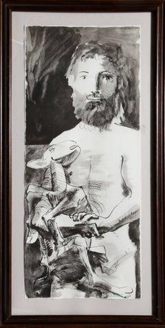 Etude pour l'Homme au Mouton after Pablo Picasso