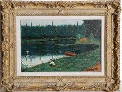 Foret de Meudon (l'etang), Oil painting by Camille Bombois c1935