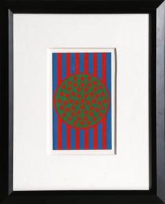 """""""New Glory Banner"""" Silkscreen by Robert Indiana 1968"""