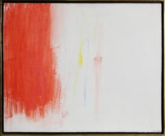 Red and White Abstract Expressionist Oil Painting by Nicolas Ionesco, 1958