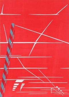 """Parking Garage"", 1969, Signed Silkscreen by Titina Maselli"