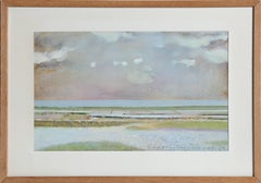 Beachscape Watercolor on Laid Paper by Rene Genis