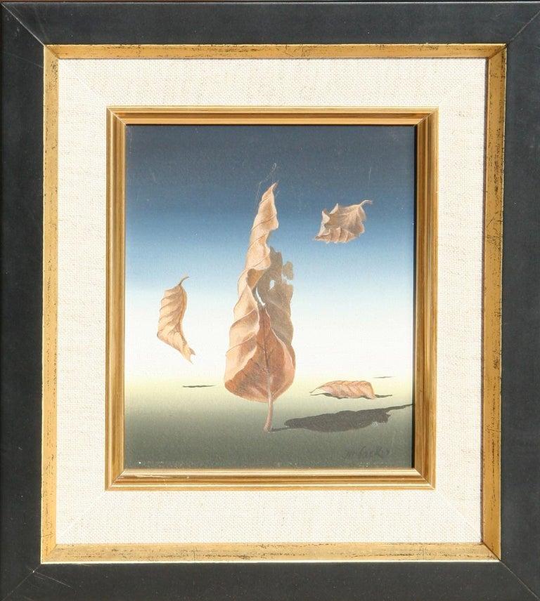 "Norman Black Landscape Painting - ""Autumn Leaves"", Surrealist Painting by Norman C. Black"