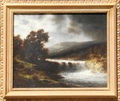 """""""Waterfall Scene"""", Oil Painting by Thomas Bartholomew Griffin"""