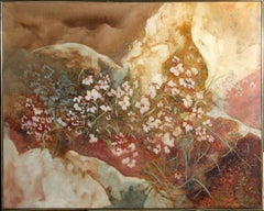 """Flowers"", 1987, Oil Painting by Gloria Rosenthal"