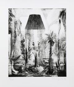 """Lamps"", 1979, Etching by Ben Schonzeit"