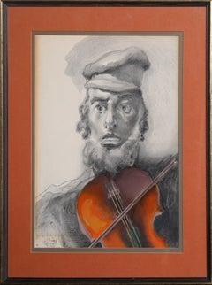 """Fiddler"", 1964, Painting by Saul Raskin"
